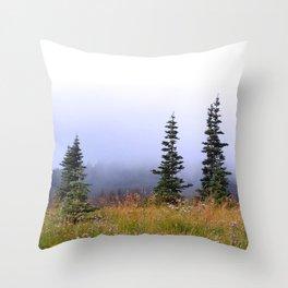 High Upon A Mountain Throw Pillow