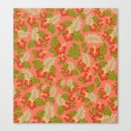 Hawaiian Pattern - Red Canvas Print