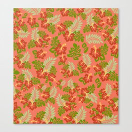 Hawaiian Pattern - Red Canvas Print