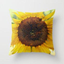 Watercolor Sunflower Throw Pillow