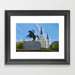 Look everyone it's Andrew Jackson! Framed Art Print