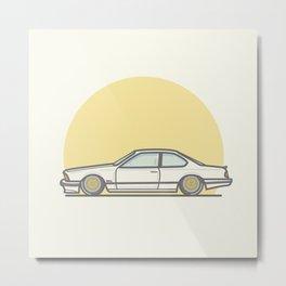 BMW E24 six series 635i vector illustration Metal Print