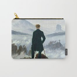Wanderer above the Sea of Fog Painting by Caspar David Friedrich Carry-All Pouch