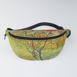 Pink Peach Tree in Blossom. Vincent van Gogh Fanny Pack