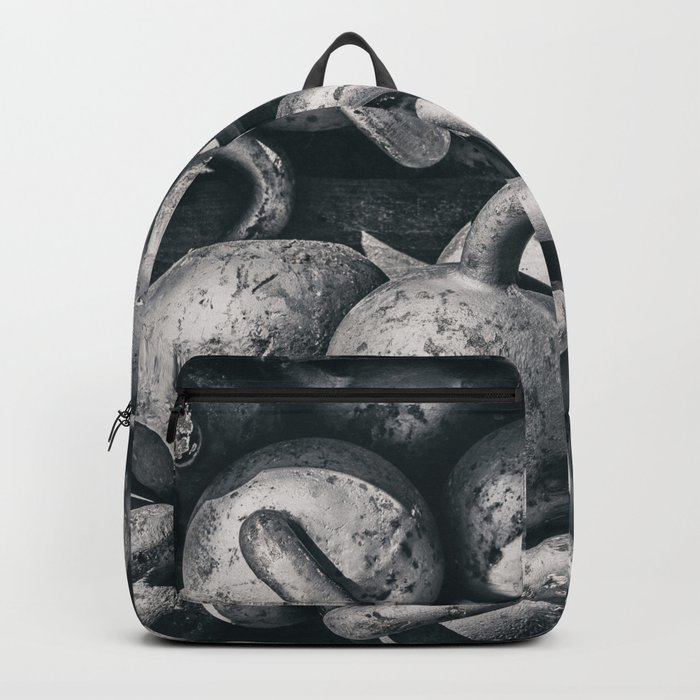 Crossfit fitness gym background Backpack by arianeart