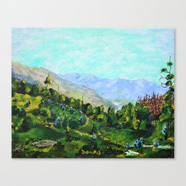 Peneda-Gerês National Park, Portugal by Mike Kraus - art landscape europe trees valley blue green Canvas Print