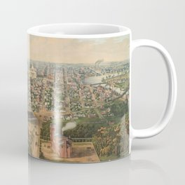 Vintage Pictorial Map of Columbus OH (1867) Coffee Mug