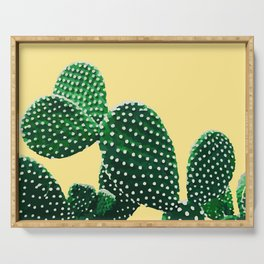 Prickly Plant ( yellow ) Serving Tray