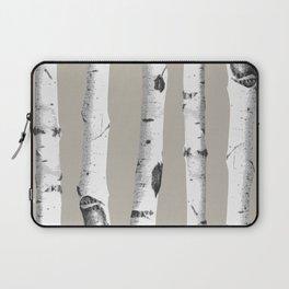 Birch tree forest art Laptop Sleeve