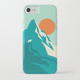 As the sun rises over the peak iPhone Case