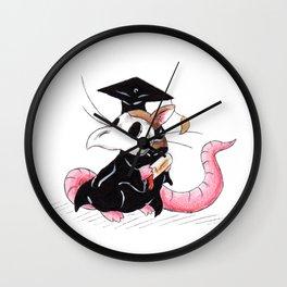 Plague Rat Grad Wall Clock