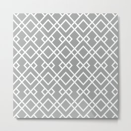 University of Alabama colors trendy patterns minimal pattern college football sports Metal Print