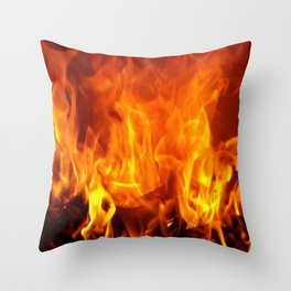 fire pattern home decor Throw Pillow