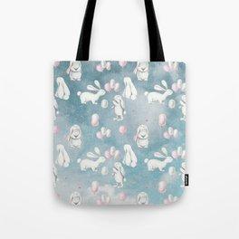 Bunnies Bunny in heaven-Cute Animal illustration pattern Tote Bag