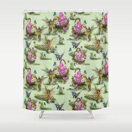 Spring Fairy Butterflies Shower Curtain