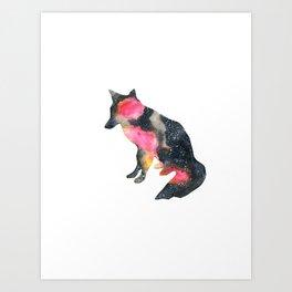 Cosmos_Fox Art Print