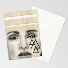 Beach Tribe Three - Gypsy Soul Searching Woman Stationery Cards