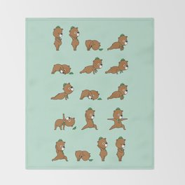 Yoga Bear Throw Blanket