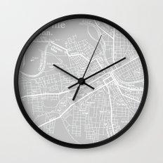 Vintage Nashville Gray Wall Clock