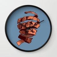 escher Wall Clocks featuring E=M.C. Escher by Tom Burns