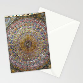Persian Art Vakil Mosque Ceiling Decorative Tile Mosaic, Shiraz Stationery Cards