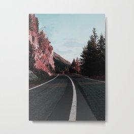 Road Red Mountain Metal Print