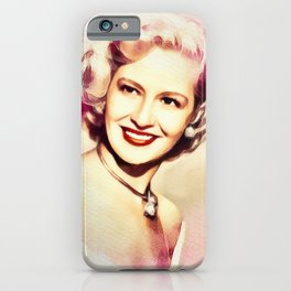 Marilyn Maxwell, Movie Legend iPhone Case