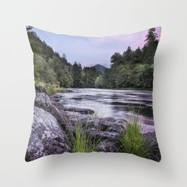 McKenzie River Just After Sunset Throw Pillow
