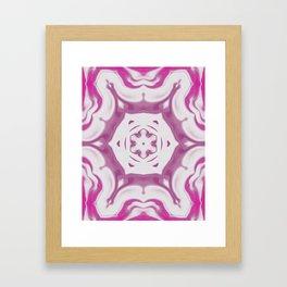 Amethyst & Hot Pink Gemstone Liquid White Smoke Kaleidoscope 2 Digital Painting Framed Art Print