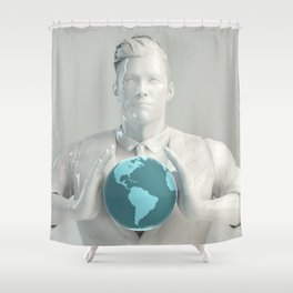 Integrated Management System IMS Global Framework as Concept Shower Curtain