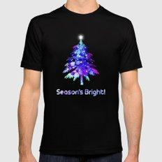 Christmas Tree Black Mens Fitted Tee MEDIUM