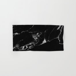 Black Marble I Hand & Bath Towel