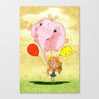 balloon Canvas Prints featuring balloon by José Luis Guerrero