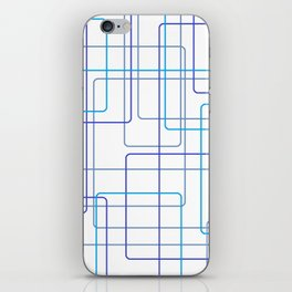 Blue Line Pattern iPhone Skin