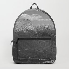 Green Mountain Valley Alpine Landscape bnw Backpack