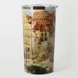 Tower Of Babel Pieter Bruegel The Elder Travel Mug