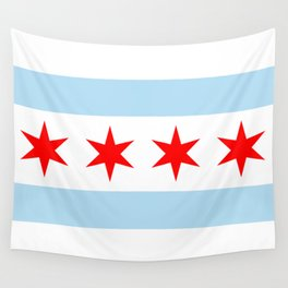 Chicago City Flag Windy City Standard Wall Tapestry