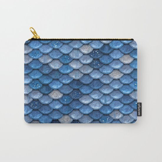 Blue sparkling glitter mermaid scales - Mermaidscales Carry-All Pouch
