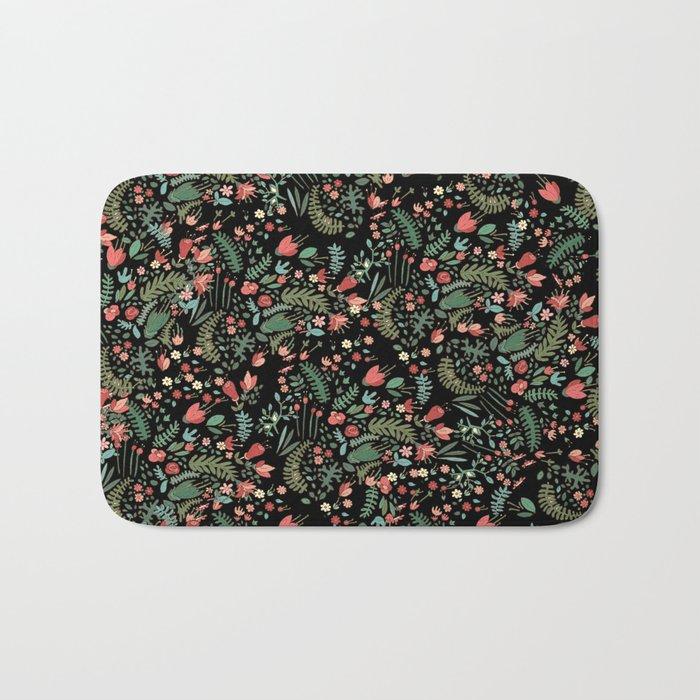 Floral Patern Bath Mat