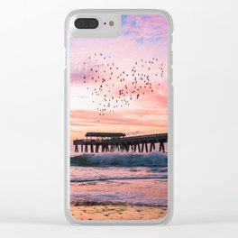 Bird Heart at Sunrise Clear iPhone Case