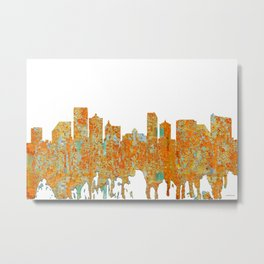 Atlantic City Skyline - Rust Metal Print