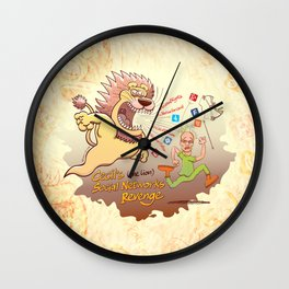 Cecil the Lion's Social Networks Revenge Wall Clock