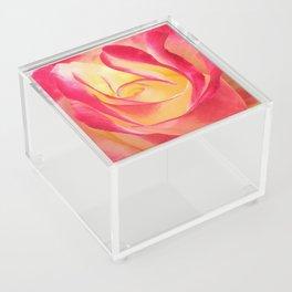 Summer Rose Untouched Acrylic Box