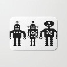 Three Robots by Bruce Gray Bath Mat
