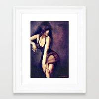 megan lara Framed Art Prints featuring Lara by lensebender