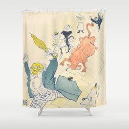"""Henri de Toulouse-Lautrec """"La Vache Enragée (The Mad Cow)"""" Shower Curtain"""