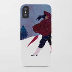 walking on snow iPhone X Slim Case