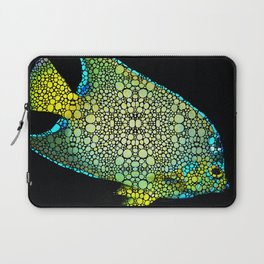 Tropical Fish Art 8 - Abstract Mosaic By Sharon Cummings Laptop Sleeve