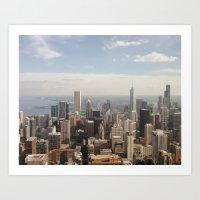 Above Chicago Art Print