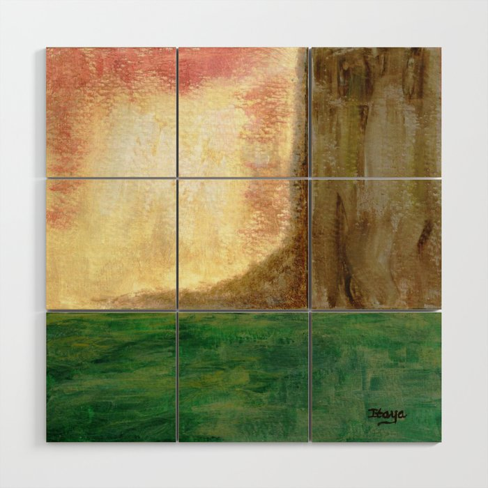 Awakening, Abstract Landscape Wood Wall Art by itaya | Society6